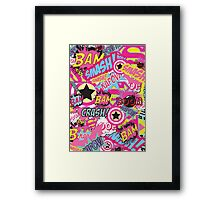 Comic Freak (Pink) Framed Print