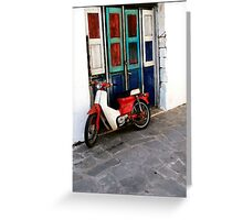 Vintage moto bike Greeting Card