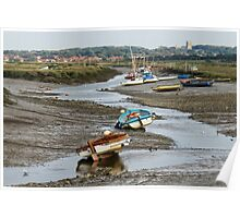 Low tide at Morston Poster
