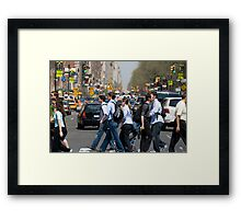 Crossing Central Park West Framed Print
