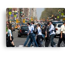 Crossing Central Park West Canvas Print