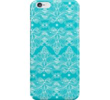 White lines on blue  iPhone Case/Skin