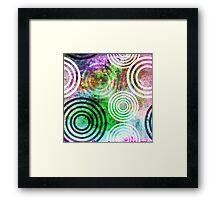 Grungy Green Circle Pattern Framed Print