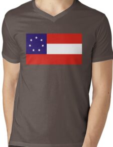 georgia state flag Mens V-Neck T-Shirt