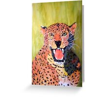 Leopard's Roar Greeting Card