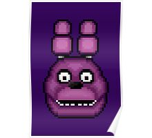Five Nights at Freddy's 1 - Pixel art - Bonnie Poster