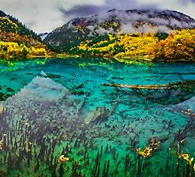 The Wuhua Lake Panorama 五花海全景 by Daniel H Chui