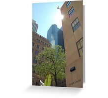 Light thru 5th Avenue Greeting Card