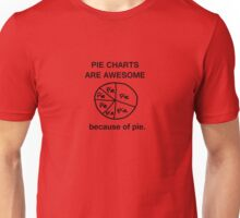 Pie Charts are Awesome - Because of Pie Unisex T-Shirt