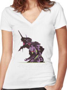 EVA 01 - Evangelion T-shirt / Phone case / Laptop skin 2 Women's Fitted V-Neck T-Shirt