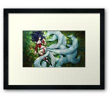 League of Legends - Ahri, Fan Art Framed Print