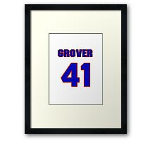 National baseball player Grover Powell jersey 41 Framed Print