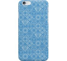 Diamond Gem Shape Outline LIGHT BLUE iPhone Case/Skin