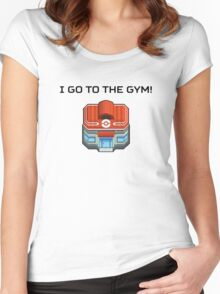 I Go To The Gym! Women's Fitted Scoop T-Shirt