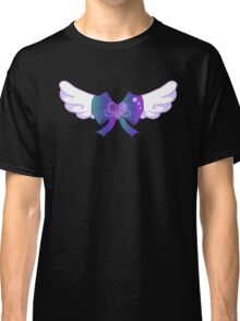 Kawaii Blue Wing Heart Bow Classic T-Shirt