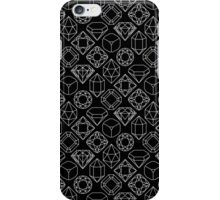 Diamond Gem Shape Outline BLACK iPhone Case/Skin