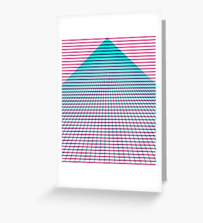 Subtractive grid Greeting Card