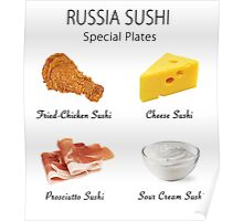 Russia Sushi's Special Plates Poster