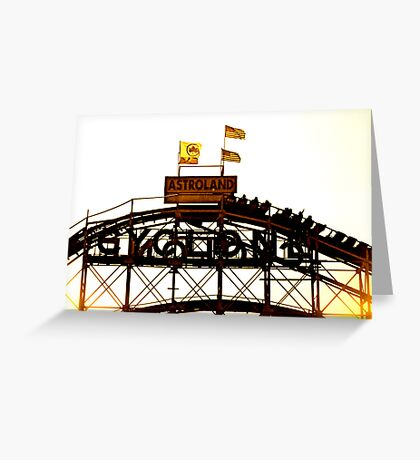 Astroland Cyclone Greeting Card