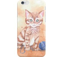 Kitten With Yarn iPhone Case/Skin