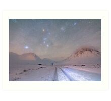 Skyfall of stars, Glen Etive, Scotland. Art Print