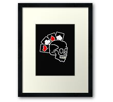 The ultimate poker face *WHITE* Framed Print