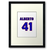 National baseball player Alberto Arias jersey 41 Framed Print