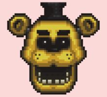 Five Nights at Freddy's 1 - Pixel art - Golden Freddy One Piece - Long Sleeve