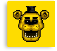 Five Nights at Freddy's 1 - Pixel art - Golden Freddy Canvas Print