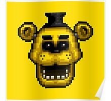 Five Nights at Freddy's 1 - Pixel art - Golden Freddy Poster
