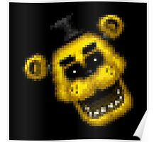 Five Nights at Freddy's 1 - Pixel art - Golden Freddy 2 Poster