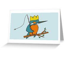 King Fisher Kingfisher Greeting Card
