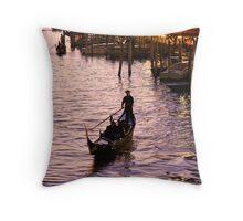 The Venice Gondolier Throw Pillow