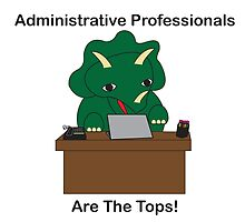 Administrative Professionals Top Triceratops Dinosaur by ValeriesGallery