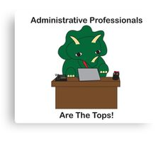 Administrative Professionals Top Triceratops Dinosaur Canvas Print
