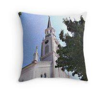 Holy Trinity Catholic Church Throw Pillow
