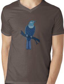 blue bird illustration Mens V-Neck T-Shirt