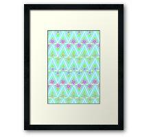 Flowery Aztec  Framed Print