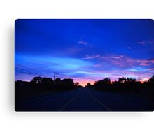 Morning Highway Canvas Print