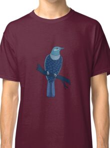 blue bird illustration red Classic T-Shirt