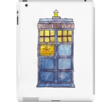 Police Box Watercolor iPad Case/Skin