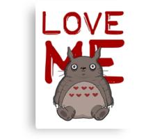 Valentine's Totoro Canvas Print