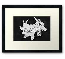 Master is Coming - Charizard Framed Print