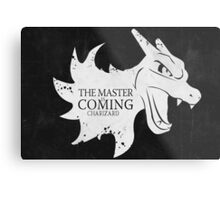 Master is Coming - Charizard Metal Print