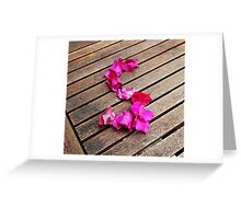 Letter S of  petals Greeting Card