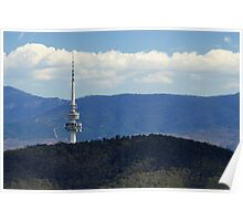 Black Mountain Tower Canberra Poster