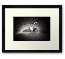 passenger tunnel arc bw Framed Print