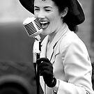 1940's Song and Laughter B&W by Jacqueline Baker
