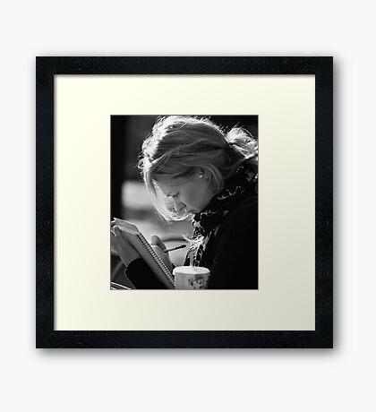 Sketching Framed Print