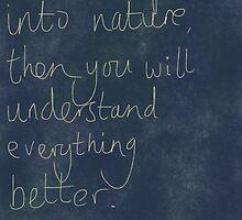 Nature Einstein Quote by Crumpettt